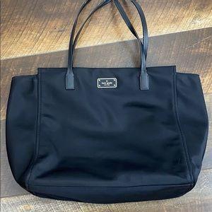 Kate Spade black vinyl large tote, dual handals